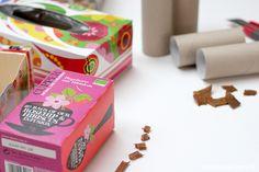 aentschies Blog: Katzenspielzeug DIY Container, Gift Wrapping, Lifehacks, Blog, Gatos, Cat Games, Bricolage, Toys, Animaux