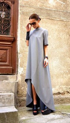 Principales tendencias de moda primavera - verano 2017 - Vestido maxi asimétrico