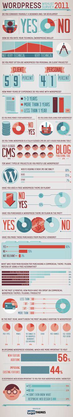 What WordPress community says Inforgraphic