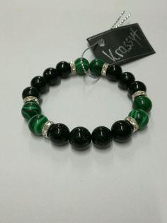 Green sand stone Malachite bracelet Men Womwn Fashion gemstone jewelry #auction #ebay #gemstones #gemsjewelry #sandstone #malahite #jewelry