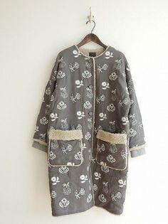 ミナペルホネン mina perhonen quartet 刺繍コート