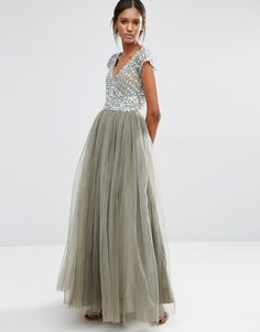 fca95c961c98 A Star Is Born Prom Embellished Tulle Maxi Dress at asos.com