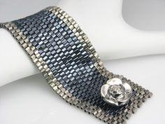 Gorgeous peyote cuff - so shiny!