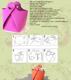 Bag in the style of origami