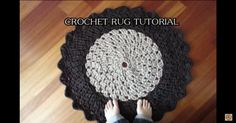 Want to see what you can make a rug out of? Your old t-shirts! Check out the tutorial and create your own, one-of-a-kind circle rug!