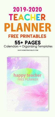 FREE Teacher Planner Printable for 2019-2020. Includes 55+ teacher quotes, templates, lesson planner, calendars, binder dividers and more! #freeprintables #teacherplanner #school #teacher #binder #shiningmomprintables