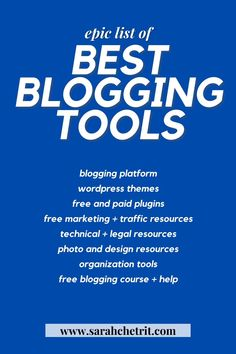 I've been blogging for five years. These are the best blogging tools I love and use (after five years of wasting money on pointless ones). Learn about all the blogging tools I can't blog without. #blogging #bloggingtips #bloggingtools #wordpress #searchengineoptimization #blogger #bloggingtipsandtricks #bloggingtipsforbeginners