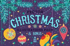 Christmas Illustrations Pack by Stella's Graphic Supply on @creativemarket
