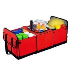 Classic And Magic Red Design High Capacity Oxford Cloth Trunk Organizer