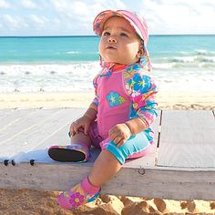 """Sun Smarties Zip Suit """"Goes on faster than sunscreen and never washes off, for all-day UPF 50+ protection."""" $39.95"""