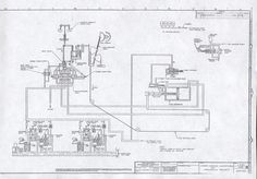 1935 schematic drawing of the Woodward Governor Company's