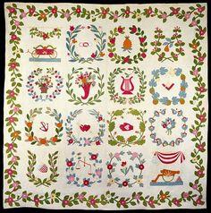 Baltimore Album Quilt, c. 1825-50 Cotton; appliqué Minneapolis Institute of Arts