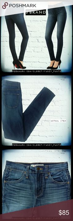 """J BRAND high waist skinny stretch jeans J Brand 'Sasha' jeans in 'Divine' wash. High waist- 9.5 """" rise,  32.5""""  inseam.  Stock photo shown is exact style and wash. Photos 2 - 5 are of actual item and taken by me. NO TRADES PLEASE! REASONABLE OFFERS WELCOME THROUGH OFFER FEATURE ONLY PLEASE!  351775 J Brand Jeans Skinny"""