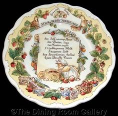 Set of 7 Woodland Recipe Plates by Royal Doulton BRAMBLY HEDGE recipe STRAWBERRY SHORTCAKE. http://www.ebay.co.uk/itm/Royal-Doulton-BRAMBLY-HEDGE-recipe-STRAWBERRY-SHORTCAKE-barklem-8-PLATE-1st-/291268409849?roken=cUgayN