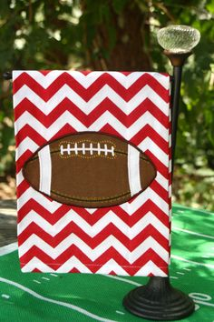 Game Day Towel | Red & White Chevron