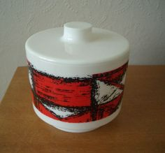 Vintage Kingston Plastics lidded container - I have one in blue