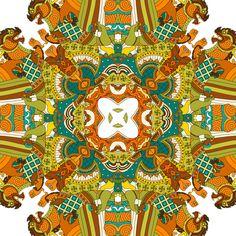 197 - Kaleidoscope Thai Warriors by Joshua Davis, via Behance