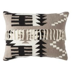 Nate Berkus trade; Fringed Decorative Pillow