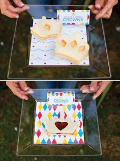 Toy Inspired Royal First Birthday Bash for Fisher Price, love displaying sandwiches like this for pictures
