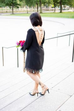 LovePlayingDressup, 1802 boutique, little black dress, peonies, bcbg pumps - valentino similar, prada clutch, petite, ootd, most pinned photo, instagram, indian blogger, boston, museum of fine arts, smile, date night inspiration, love, black dress, lace dress, backwards necklace, pearl necklace
