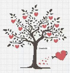 Arvore com corações
