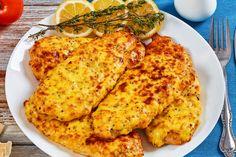 Szaftos sajtos-tejfölös karaj a sütőből, a hús puha és omlós lesz Cheese, Chicken, Cooking, Recipes, Food, Drink, Diet, Living Room Ideas, Meal