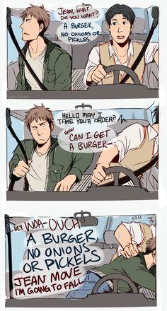 Case with Drive Thru by Sydur.deviantart.com on @deviantART Jean , Marco -  Shingeki no Kyojin Attack on Titan SnK AoT