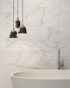 Sensi Sable Statuario White Feel - Rectified Wall Tile By Italian tile manufacturers ABK