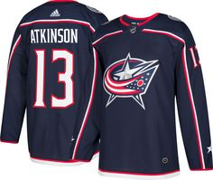 5a594ba01 adidas Men s Columbus Blue Jackets Cam Atkinson  13 Authentic Pro Home  Jersey