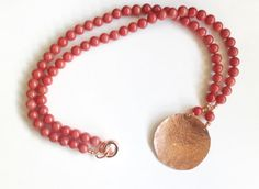 jade necklace red necklace long necklace necklace with by tizianat