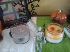 Fill your home with the Fun aroma scents of Halloween.  Trick or Treat - smells like skittles and Candy Corn Candle with real candy corn all made of Soft Wax now 20% off all Halloween candles.  Your choice of Dark Cherry, Candy Corn, Trick or Treat.  visit www.candlesbyus.com