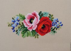 This Pin was discovered by Лиз Cross Stitch Rose, Cross Stitch Borders, Cross Stitch Flowers, Cross Stitch Charts, Cross Stitch Designs, Cross Stitch Patterns, Ribbon Embroidery, Cross Stitch Embroidery, Embroidery Designs