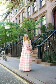 Skirt: PartySkirts c/o (short version here and also love this stripe maxi). Top. Flats. Bag: Chanel. Sunglasses (similar). Bracelet