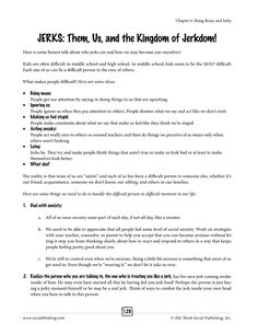 From the book Social Thinking Worksheets for Tweens and Teens: Learning to Read In-Between the Social Lines by Michelle Garcia Winner