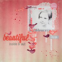 by Elina's Arts and Crafts Layout for Creative Scrappers DT: Beautiful http://www.artsandcraftswithlove.com/
