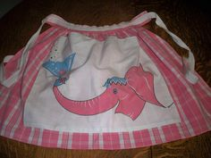 Pink Elephant apron from the What fun! Sewing Aprons, Sewing Clothes, Pink Apron, All Tied Up, Half Apron, Apron Pockets, Aprons Vintage, Vintage Outfits, Vintage Clothing