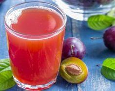 Jus de prunes et orange détox à la menthe