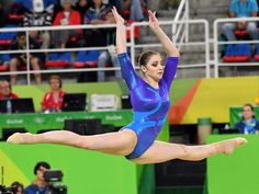 Aliya Mustafina of Russia competes during the women's