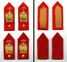 Mostrine per ufficiali e sottufficiali lagunari in uso fino al 1971