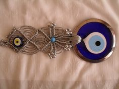 Your place to buy and sell all things handmade Greek Evil Eye, Hamsa, Silver Color, Macrame, Eyes, Unique Jewelry, Handmade Gifts, Beautiful, Vintage