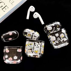 Buy Mickey Snoopy Apple Airpods case Silicone Pink pig Airpods Earphone Protective Cover Floral Iphone Case, Iphone Cases, Bluetooth, Accessoires Iphone, Marble Iphone Case, Earphone Case, Phone Gadgets, Airpod Case, Iphone Accessories