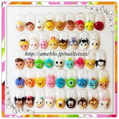 Painted Tsum Tsum nails
