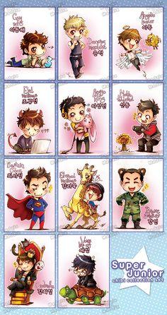 Super Junior chibi set collection by ~MadziaVelMadzik on deviantART SO CUTE OMG I LOVE THEM ALL! :'D