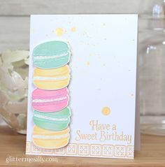 sweet birthday: PTI hibiscus, lemon and aqua dye ink; Simple Birthday Cards, Kids Birthday Cards, Cool Cards, Diy Cards, Candy Birthday Cakes, Send A Card, Sympathy Cards, Greeting Cards, Card Making Inspiration