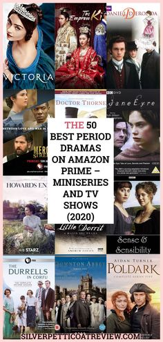 Here is a list of the best period dramas on Amazon Prime to watch in 2020. From romantic period dramas, historical drama TV shows, British period dramas, and more. #PeriodDramasOnAmazonPrime #perioddramas #romanticperioddramas #britishperioddramas #perioddramasseries Period Romance Movies, Period Piece Movies, Best Period Dramas, British Period Dramas, Historical Tv Series, Best Historical Dramas, Amazon Movies, Best Amazon Prime Movies, Free Tv And Movies