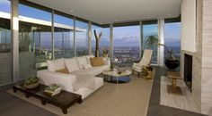 The home is constructed of concrete, steel, and glass.  (McClean Design)