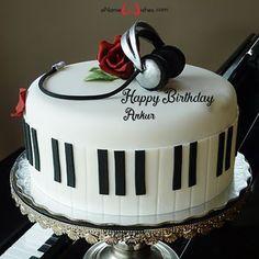 Birthday Cake For Brother, Happy Birthday Cake Writing, Birthday Cake Write Name, Happy Birthday Aunt, Happy Birthday Chocolate Cake, Birthday Cake Gift, Image Birthday Cake, Friends Birthday Cake, Happy Birthday Wishes Cake