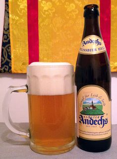 Andechser Weissbier HellKlosterbrauerei, Andechs Brewery & Monastery, Andechs, Germany - bought in Almaty, Kazakhstan