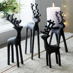Shop Zinc Reindeer.  Long-legged reindeer strut their stuff in handcrafted aluminum with a warm zinc finish.  Display alone or as a herd of small, medium, large and extra large.