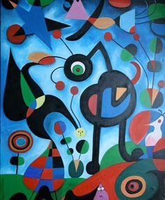 PAINTPOTMAMA, COPY of Joan Miró El jardin 1925